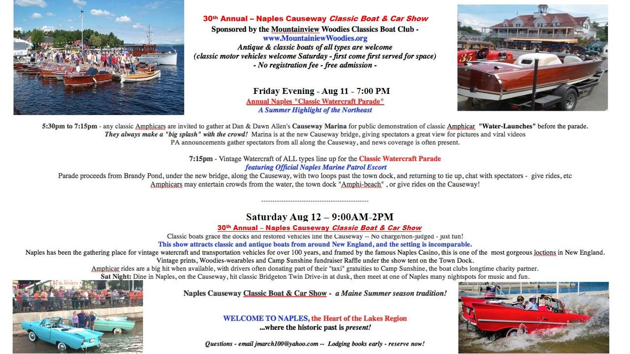 Tourism Events Naples Maine - Naples antique car show 2018